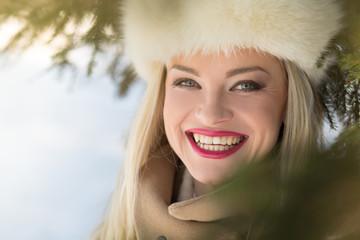 Beautiful winter portrait
