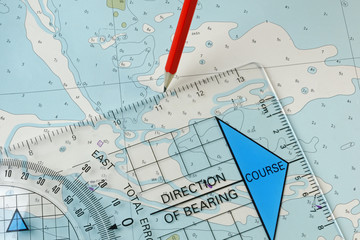 Navigation Equipment Plotting a Course