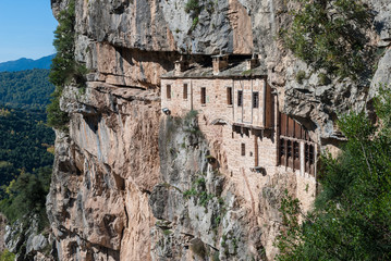 The historic Kipina Monastery (12th century) in Epirus, Greece