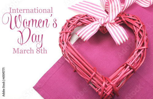 Happy International Womens Day, March 8, greeting