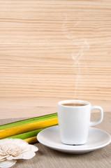 Café vertical caliente