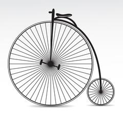 Retro bicycle vector icon.