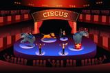 Circus performance poster