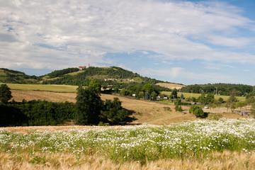 Landschaft Lindig mit Leuchtenburg