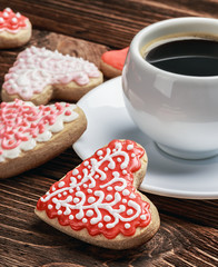 cookies baked on valentines day