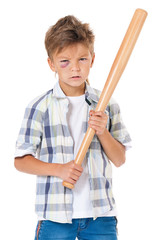 Boy with baseball bat