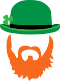 St.Patrick hat and beard