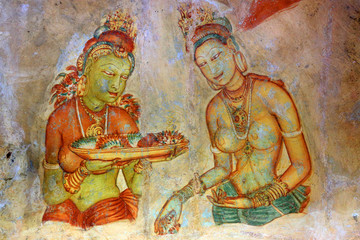 Fresco in Sigiriya