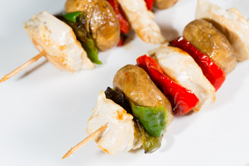 Skewered chicken breast