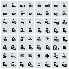 Human resource for business icons,vector