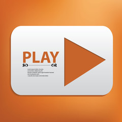 Play banner for text,vector