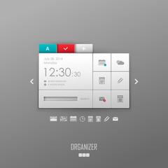 Vector organizer template design