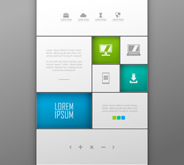 Vector website template design