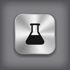 Laboratory equipment icon - metal app button