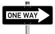 One way sign  #140203-svg02