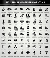 Industrial and Building icons, Black version