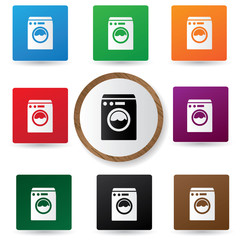 Washer symbol,vector