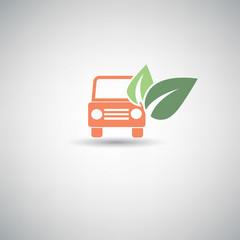 Ecology car symbol,vector