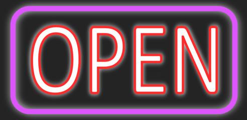 Open Neon Schild  #140203-svg03