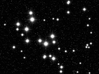 Sagittarius Zodiac sign bright stars in cosmos