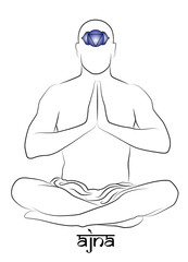 Ajna yoga chakra