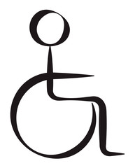Disabled Person Symbolic Represantation