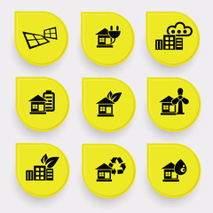 Ecology & Energy on yellow buttons