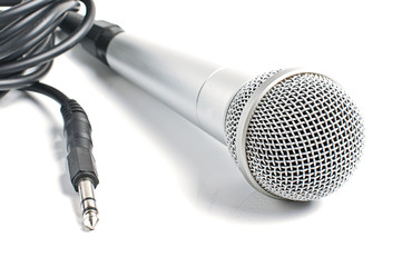 Microphone with audio cord