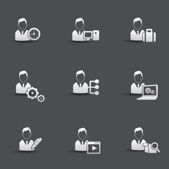 Human resource icons,vector