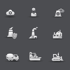 Industrial icons,vector