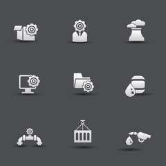 Industrial and engineering icons,vector