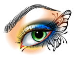 Fototapety Eye make up with butterfly