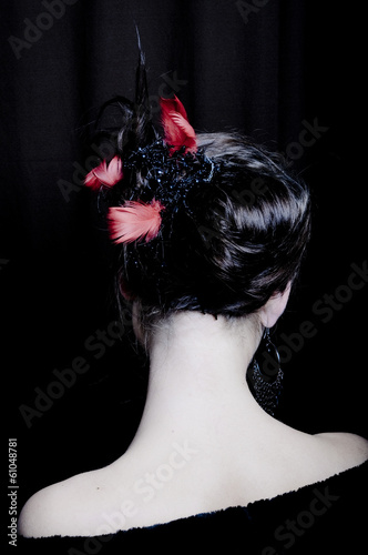 Photo Woman With Elegant Hairstyle