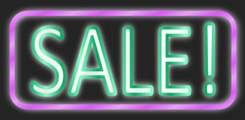 Sale Neon Schild  #140203-svg04