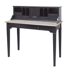 Antique hard wood writing desk / secretary, isolated on white ba