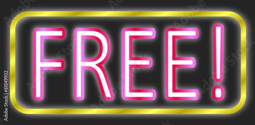 Free Schild Neon  #140203-svg05