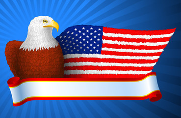 American Eagle Flag Wing; eps8