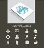Business and office icon set,vector