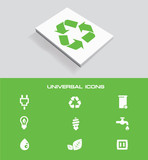 Ecology universal icon set,vector