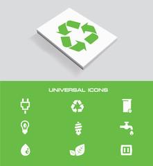 Ecology universal icon set,vector