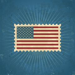 Retro United States Postage Stamp