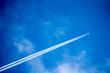 Leinwandbild Motiv business jet in the sky