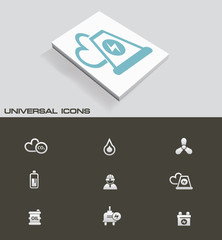 Nuclear and energy universal icons,vector