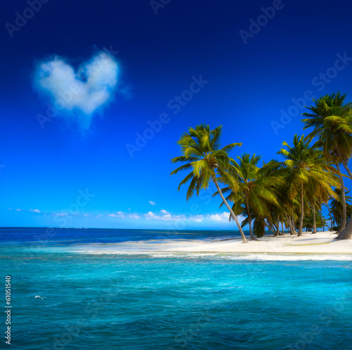 canvas print picture Art  beautifu seaside view  background