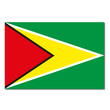 Guyana Flagge Icon Button