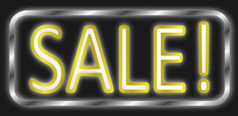 Sale Schild Neon  #140203-svg09