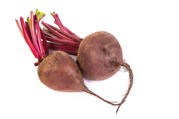 Fresh red beet isolated on  white