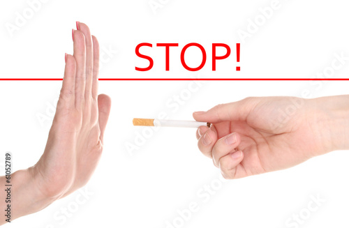 Stop smoking isolateed on white
