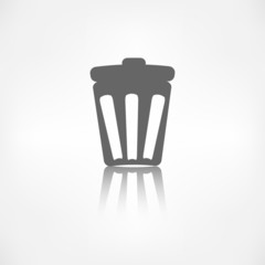 Trash can icon. Recycle symbol. Waste container.