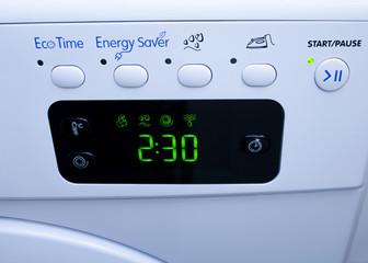Display on washing machine